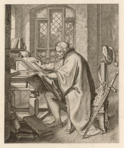 Luther at the Wartburg by Gustav Konig