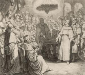 Martin Luther Defends His Views at the Diet of Worms Before the (Catholic) Emperor Karl V by Gustav Konig