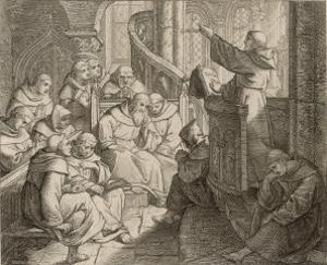 Martin Luther Delivers a Practice Sermon to His Brethren by Gustav Konig