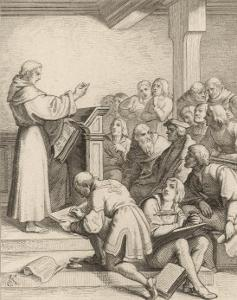 Martin Luther Delivers His Baccalaureate Lecture by Gustav Konig