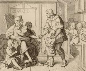 Martin Luther is Taken by His Father to School at Mansfeld by Gustav Konig