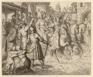 Threatened with Excommunication by the Pope Luther Travels to Worms by Gustav Konig