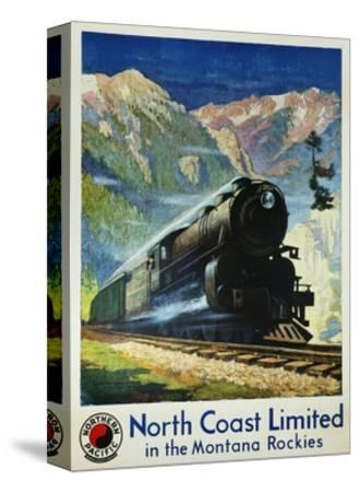 North Coast Limited in the Montana Rockies Poster