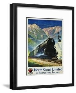 North Coast Limited in the Montana Rockies Poster by Gustav Krollmann