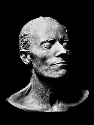 Gustav Mahler's Death Mask, 1911 (Plaster) (B/W Photo)- Austrian-Giclee Print