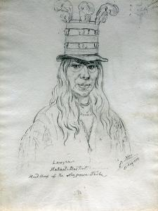Portrait of Lawyer Hal-Hal-Tlostsot Head Chief of the Nez Perce Tribe by Gustav Sohon