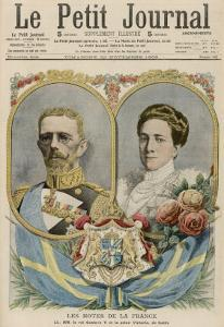 Gustav V King of Sweden (1907-50) with His Wife Victoria, Princess of Baden