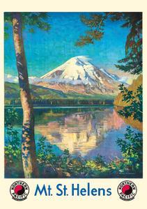 Mt. St. Helens - Spirit Lake, Washington - Cascade Mountain - Northern Pacific Railway by Gustav Wilhelm Krollmann