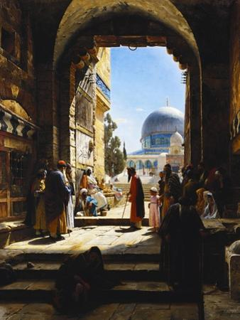 At the Entrance to the Temple Mount, Jerusalem, 1886