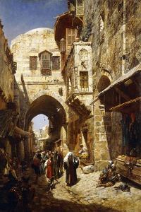 Davidstrasse, Jerusalem, 1887 by Gustave Bauernfeind