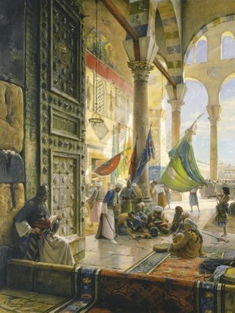 Forecourt of the Ummayad Mosque, Damascus, 1890