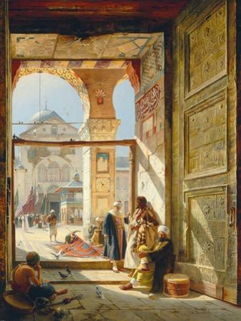 The Gate of the Great Umayyad Mosque, Damascus, 1890 by Gustave Bauernfeind