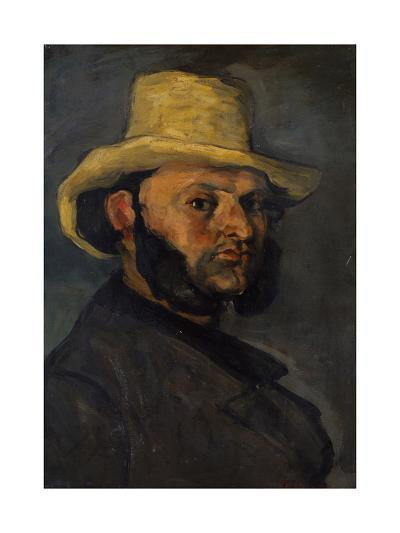 Gustave Boyer in a Straw Hat, 1870-71-Paul Cezanne-Giclee Print