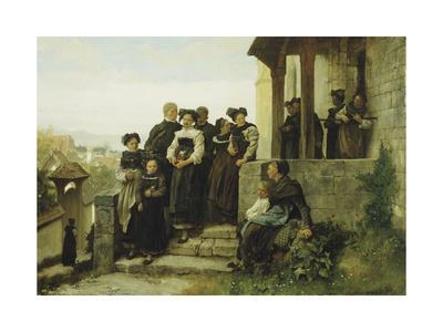 After the Protestant Church Service, 1872