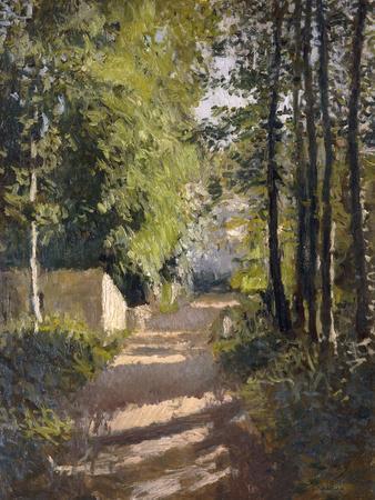 Allee sous-bois en Normandie, 1882