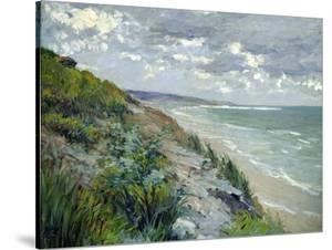 Cliffs by the Sea at Trouville by Gustave Caillebotte