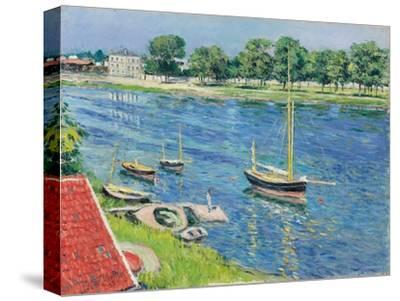 Die Seine bei Argenteuil, Boote vor Anker. La Seine a Argenteuil, bateaux au mouillage. 1883