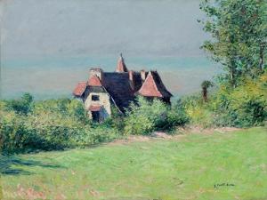 Eine Villa in Trouvile. Une villa a Trouville by Gustave Caillebotte