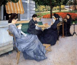 Ladies Sewing, 1848 by Gustave Caillebotte