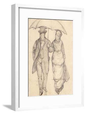 Man and Woman under an Umbrella (Study for Paris Street, Rainy Day), 1877