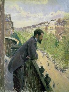 Man on a Balcony, C.1880 by Gustave Caillebotte