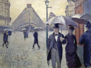 Paris, Rainy Day by Gustave Caillebotte