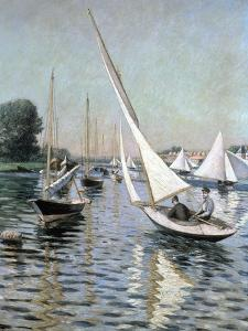 Regatta at Argenteuil, 1893 by Gustave Caillebotte