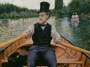 Rower in a Top Hat, C.1877-78 by Gustave Caillebotte