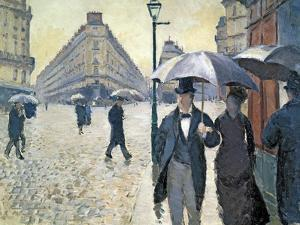 Sketch for 'Paris Street; Rainy Day', 1877 (Pre-Restoration) by Gustave Caillebotte