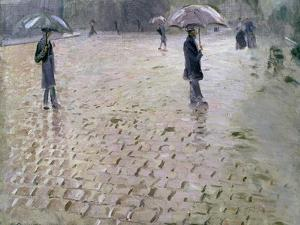 Study for a Paris Street, Rainy Day, 1877 by Gustave Caillebotte