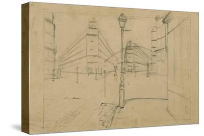 Study for Paris Street, Rainy Day, 1877