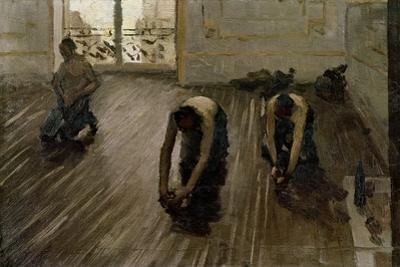 Study for 'The Parquet Planers', 1875 by Gustave Caillebotte