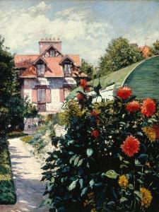 The Dahlias, Garden at Petit Gennevilliers, 1893 by Gustave Caillebotte