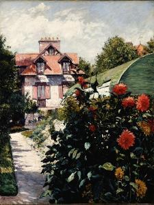 The Dahlias, Petit Gennevilliers Garden, 1893 by Gustave Caillebotte