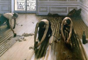 'The Parquet Planers', 1875. Artist: Gustave Caillebotte by Gustave Caillebotte