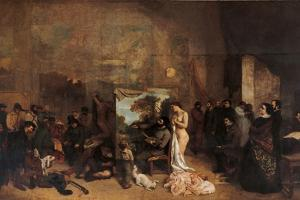Artist's Studio by Gustave Courbet