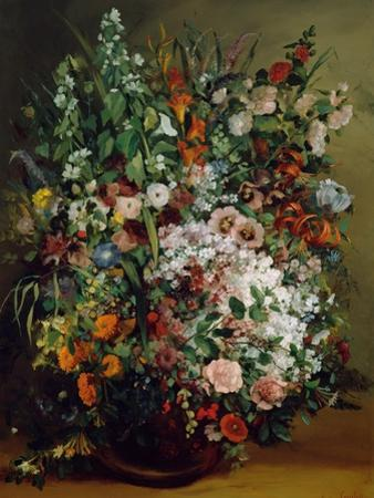 Bouquet of Flowers in a Vase. 1862 by Gustave Courbet