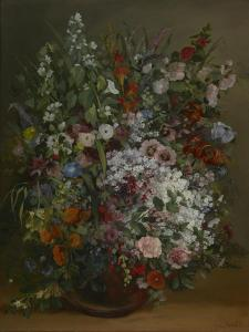 Bouquet of Flowers in a Vase by Gustave Courbet