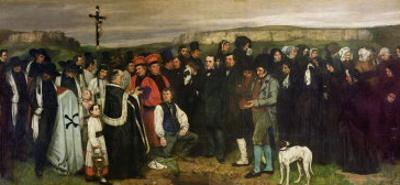 Burial at Ornans, 1849-50 by Gustave Courbet