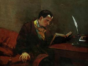 Charles Baudelaire, French Poet by Gustave Courbet