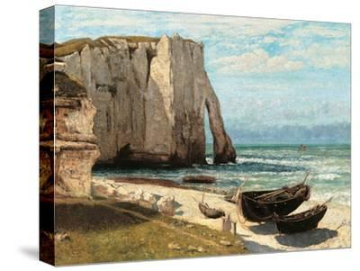 Cliff at Etretat after the Storm