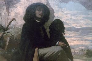 Courbet with His Black Dog, 1842 by Gustave Courbet