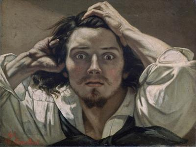 Desperate, Self-Portrait, 1841 by Gustave Courbet