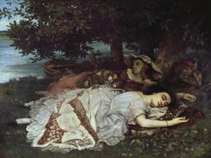 Girls on the Banks of the Seine, 1856/57 by Gustave Courbet