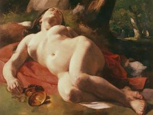 La Bacchante, C.1844-47 by Gustave Courbet