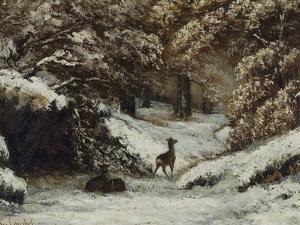La remise des chevreuils en hiver by Gustave Courbet