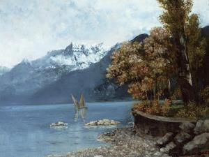 Lake Leman, 1874 by Gustave Courbet