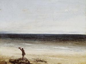 Le bord de mer à Palavas by Gustave Courbet