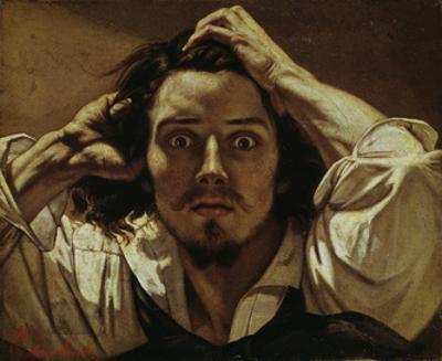 Le Désespéré (Self portrait, The Des- paring Man), 1841 by Gustave Courbet