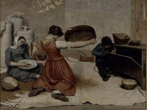 Les Cribleuses de blé by Gustave Courbet